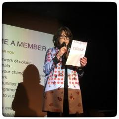ICA-B president Jeannette Hanenburg, opening the event.