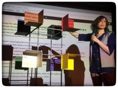 Inez Michiels presenting the semantic colour space.