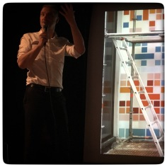Filip Roscam thanking Adrien Lucca for his presentation.