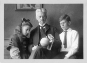 """Munsell with his children Margret and A.E.O Munsell  """"It may sound strange to say that color has three dimensions, but it is easily proved by the fact that each of them can be measured.""""   A Color Notation  1905"""